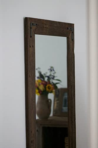 rustic wall mirrors living room rustic wall mirror large 24 36 vanity bathroom amazoncom