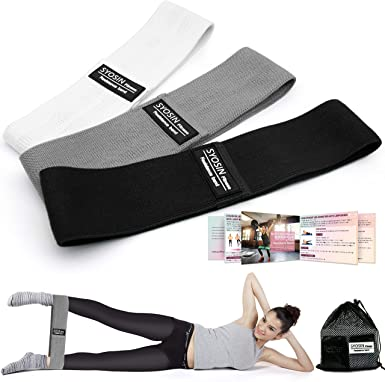 Non-Slip Exercise Loop Bands for Hips and Glutes 3 for SYOSIN Resistance Bands