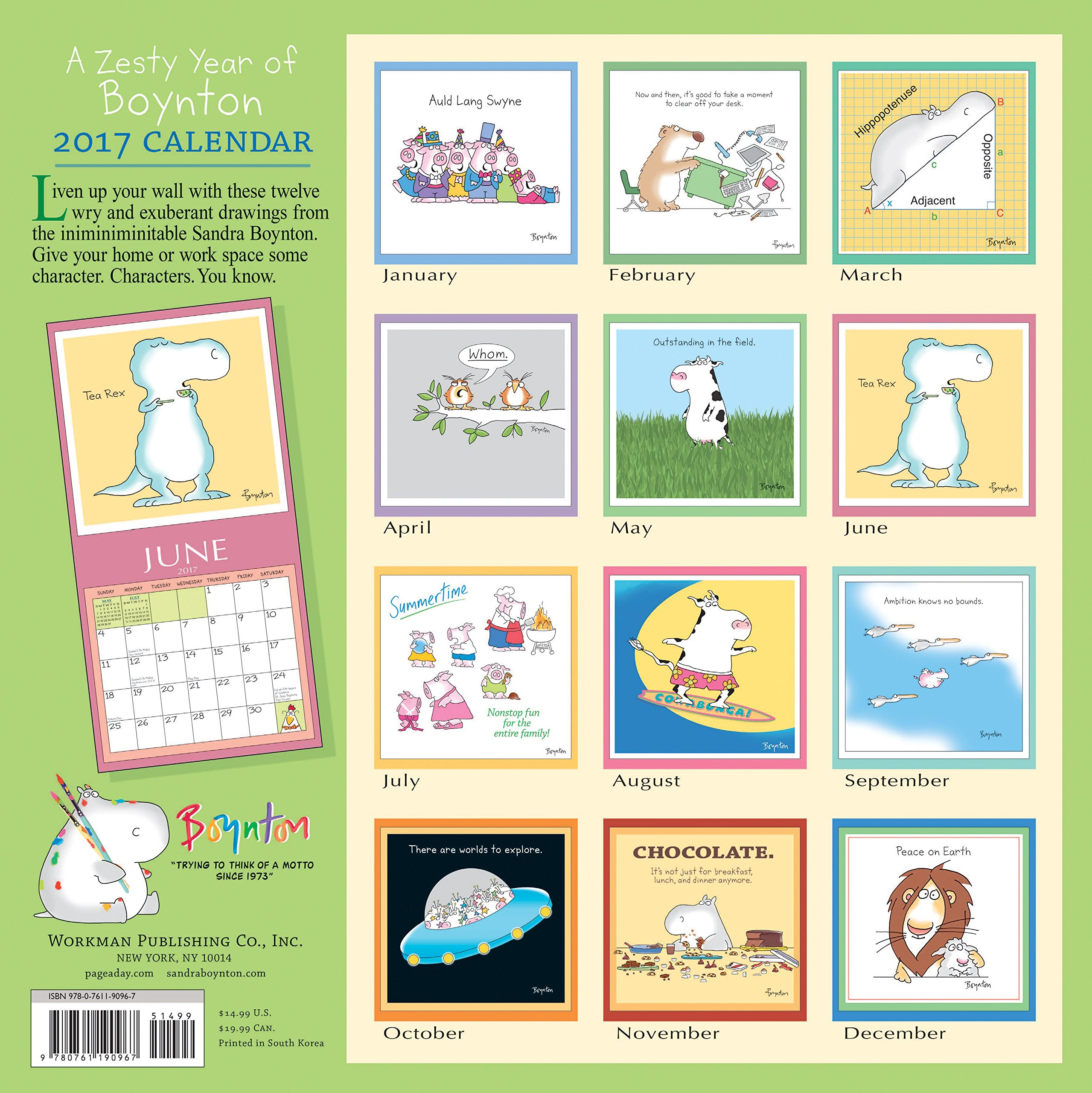 A Zesty Year Of Boynton Wall Calendar 2017 Sandra Boynton