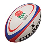 Gilbert England Rugby Replica Ball - White/Red, Mini