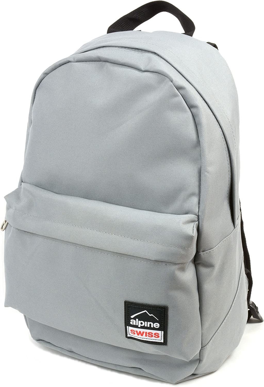 Alpine Swiss Midterm Backpack School Bag Bookbag 1 Yr Warranty Gray