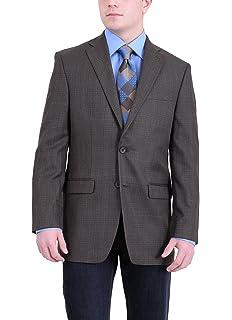 22a548d6a7c RALPH LAUREN Classic Fit Brown Olive Plaid Two Button Blazer Sportcoat