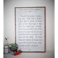 The Velveteen Rabbit Sign Childrens Room Wooden Inspirational Wall Art Distressed Sign 24x36