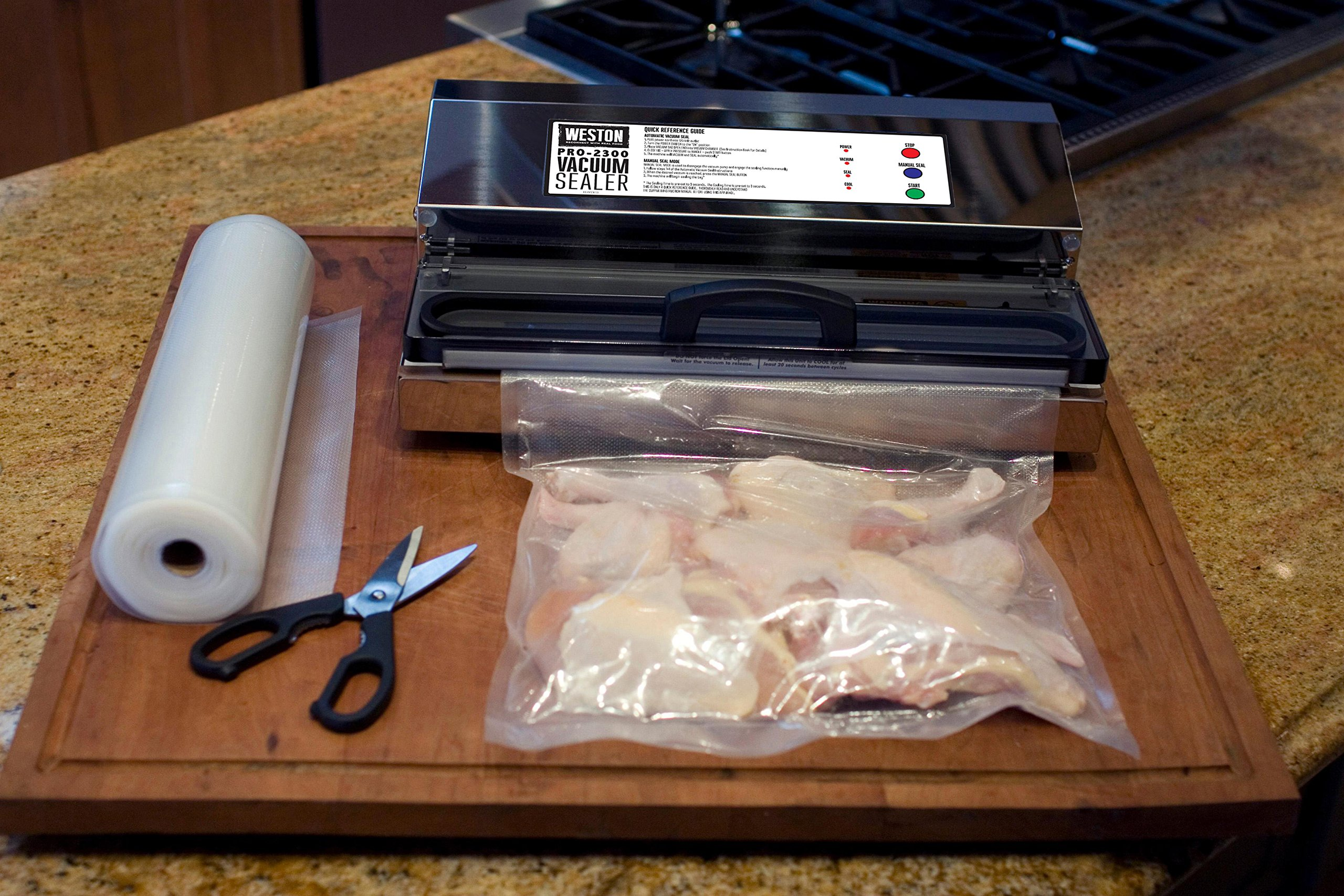 Weston Pro-2300 Commercial Grade Stainless Steel Vacuum Sealer (65-0201), Double Piston Pump by Weston (Image #4)