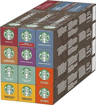 STARBUCKS By Nespresso Variety Pack, 12 X Tubos De 10 Cápsulas De Café, 8 sabores: Amazon.es: Alimentación y bebidas