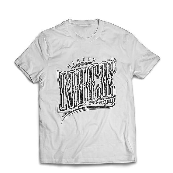 lepni.me Camisetas Hombre Mister Nice Guy - Eslogan sarcástico, Gráficos Divertidos, Frases Divertidas - Ideas increíbles de Regalos para Él: Amazon.es: ...