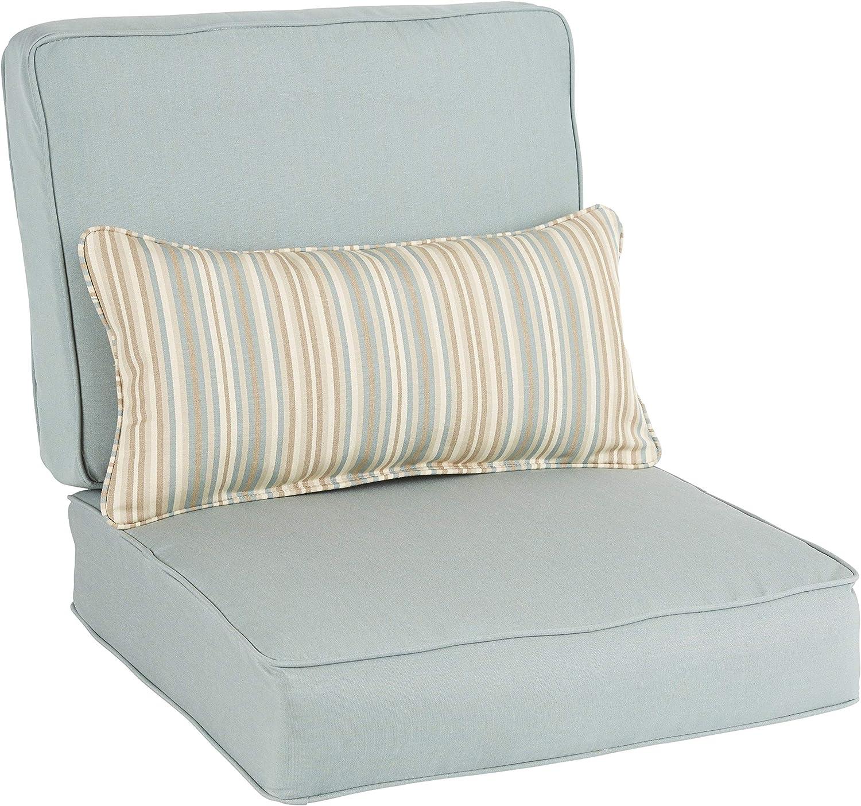 Humble And Haute Oakley Sunbrella Solid Indoor Outdoor Corded Chair Cushion Set And Lumbar Pillow Garden Outdoor