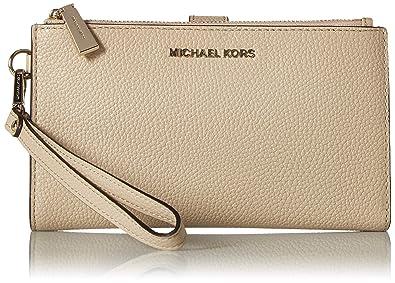 4a669ade3e45 Michael Kors Adele Leather Smartphone Wristlet- Oat: Amazon.co.uk ...