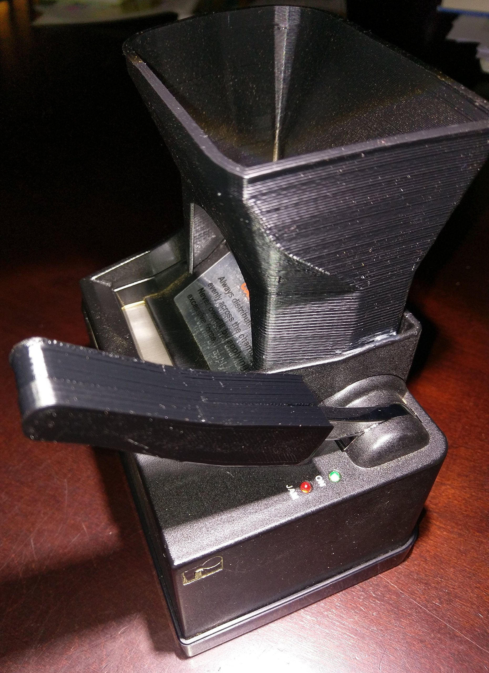 Ergo 3D Tobacco Hopper and Handle Bundle for Powermatic 2 and 2+ Cigarette Rolling Machine
