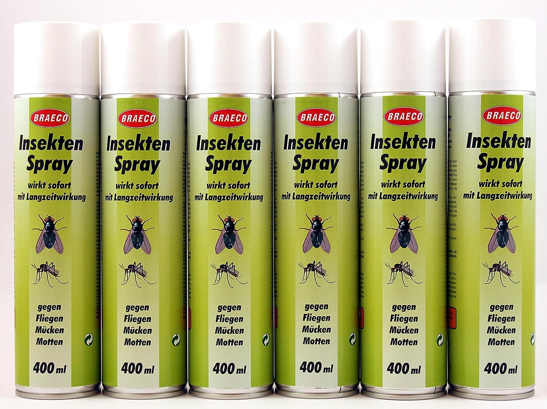 Braeco - Spray insecticida con moscas / mosquitos / polillas - 400 ...
