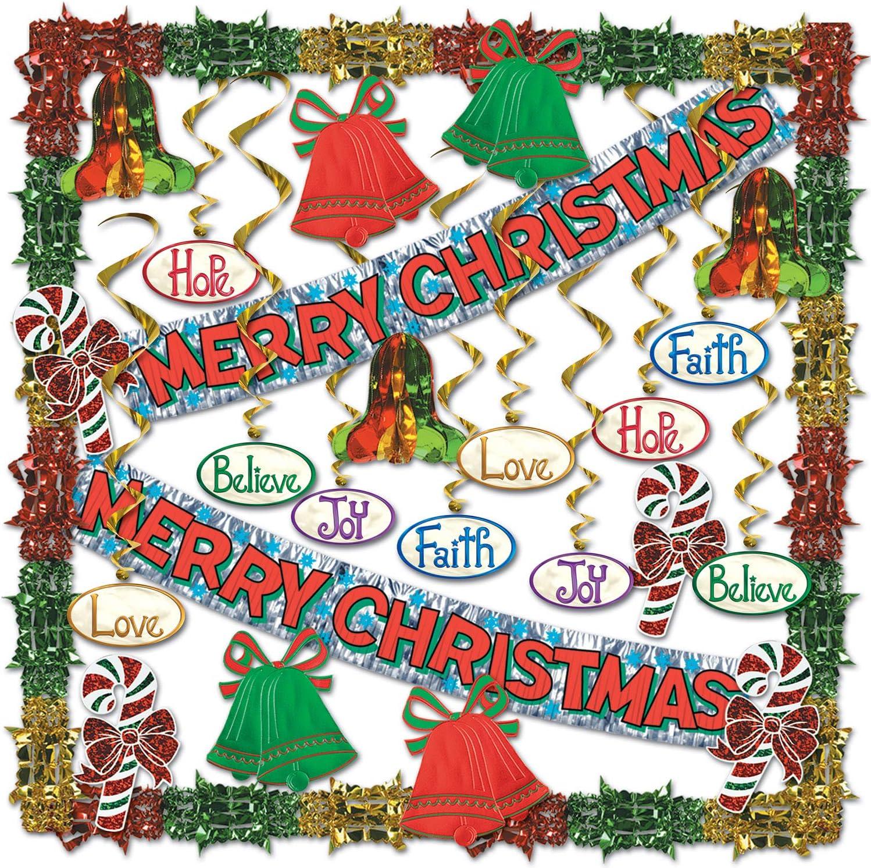 Beistle 20-Piece Merry Christmas Metallic Decorating Kit