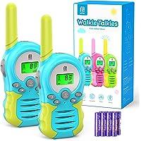 Walkie Talkie PMR446 8 Canales Función VOX Rango de 3KM 10 Tonos de Llamada con LCD Retroiluminada Walky Talky con Pilas…