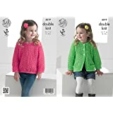 1fa994aac King Cole 5123 Knitting Pattern Girls Cable Cardigans in Cottonsoft ...