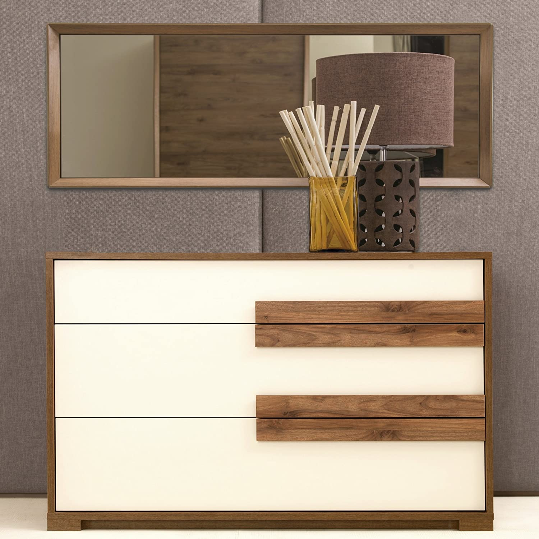 Amazon.com: Adam And Illy AUR0459 Aura Chest Of Drawers With Mirror, Marble  Walnut/Ceramic: Kitchen U0026 Dining
