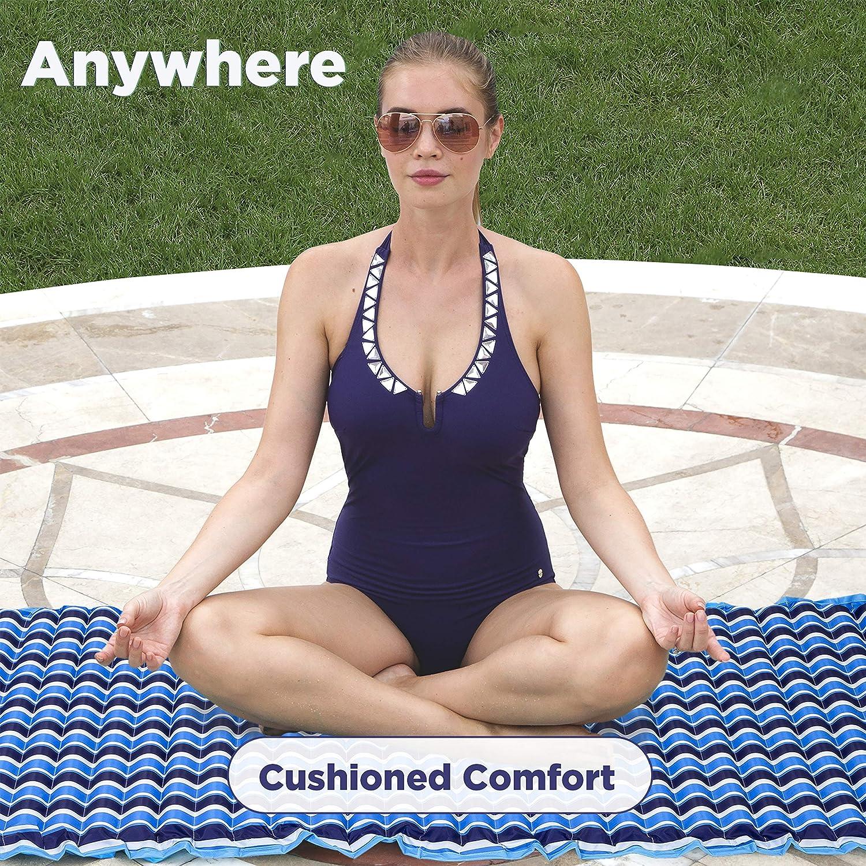 Saddle, Lounge Chair, Hammock, Drifter Portable Pool Float Aqua Monterey 4-in-1 Multi-Purpose Inflatable Hammock Navy//White Stripe