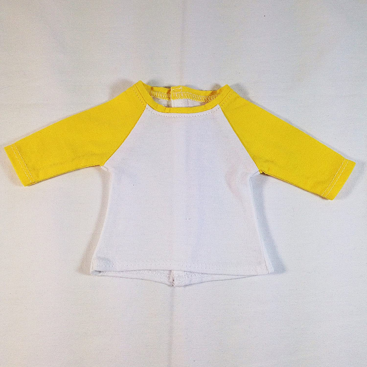 White//Royal Blue 3//4 Raglan Sleeve Baseball Shirt for 18 Inch Dolls