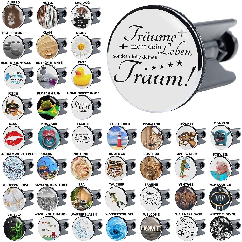 Waschbeckenstöpsel Bad Dog, viele schöne Waschbeckenstöpsel zur Auswahl, hochwertige Qualität ✶✶✶✶✶ hochwertige Qualität ✶✶✶✶✶ Sanilo