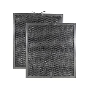 2 Pack Air Filter Factory Compatible Replacement for Broan Nutone QT2000 WA6500, 99010317, BPQTF, WA65F, S99010317 Aluminum Mesh Charcoal Combo Filter