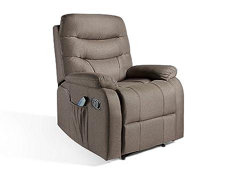 Sillón de Masaje ECO-DE Relax Imperial tapizado en Tela ECO-8500 Color Marrón