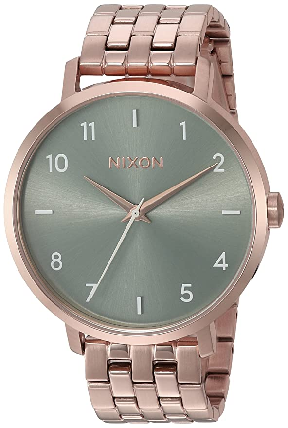 Amazon.com: Nixon Arrow Rose Gold/Sage Casual Womens Watch (38mm. Rose Gold & Sage Face/Rose Gold Stainless Steel Band): Watches