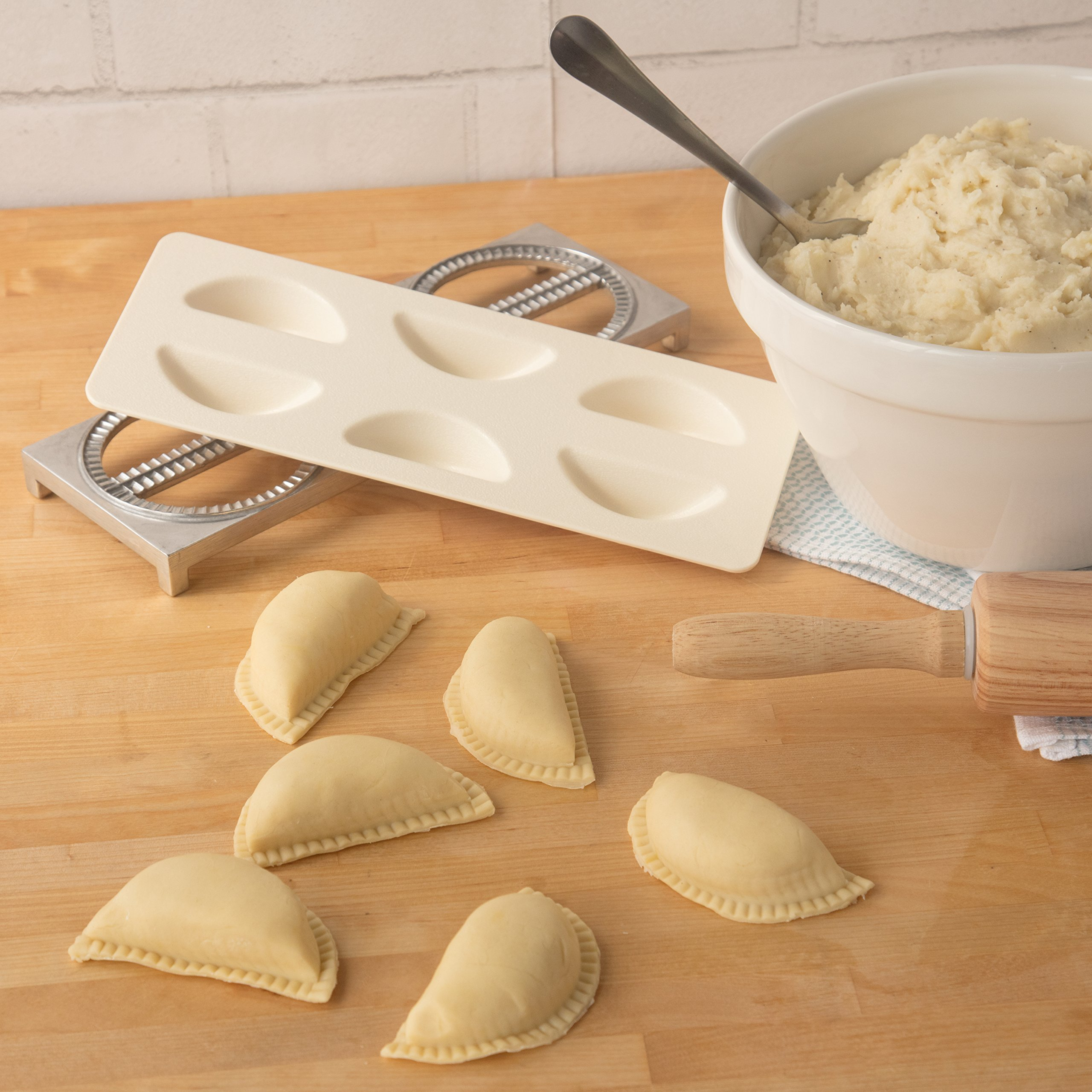 Pierogi Maker by Cucina Pro - Includes Tray and Press - Makes 6 Dumplings, Potstickers, or Peirogis at  a time by CucinaPro (Image #7)