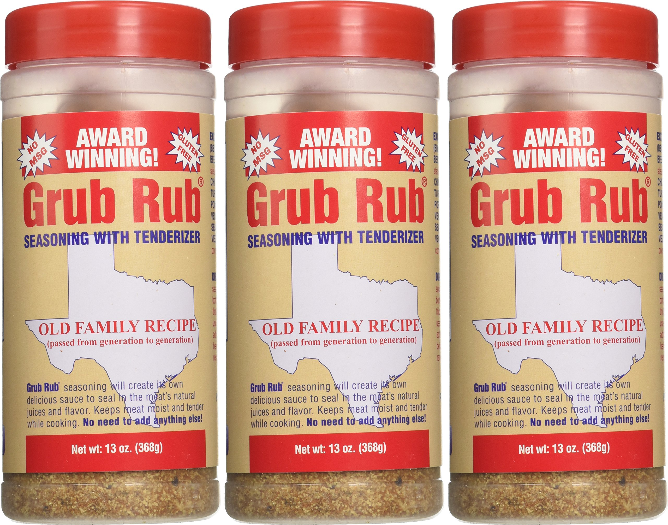 Gordon's Seasoning Grub Rub, 13-Ounce (Pack of 3) by Gordon (Image #2)
