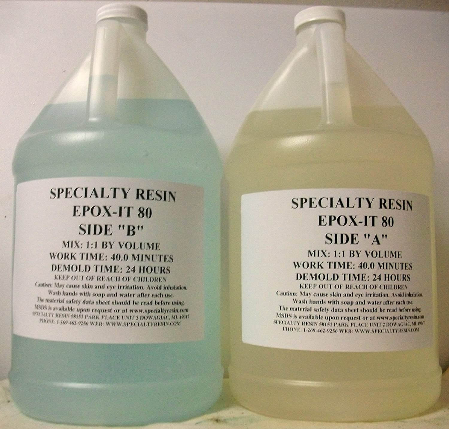 Amazon.com: Epox It 80 Clear Epoxy Resin For Table Tops, Gloss Coating,  Casting ( 2 Gallons ): Arts, Crafts U0026 Sewing
