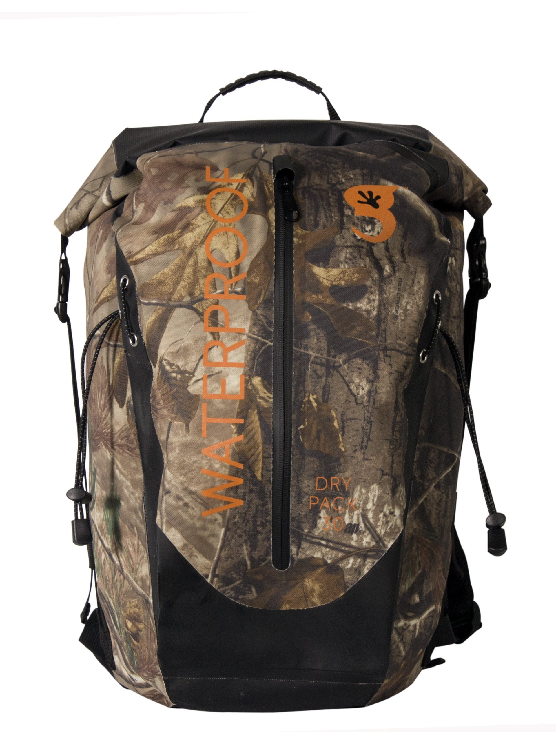 geckobrands Waterproof 30L Dry Bag Backpack, Realtree Xtra Camouflage