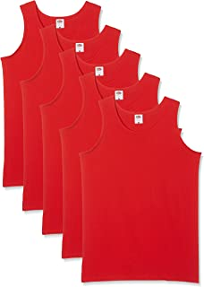 3 Or 5 Pack Fruit of the Loom Ladies Plain Vest Sleeveless Sports Athletic Top T