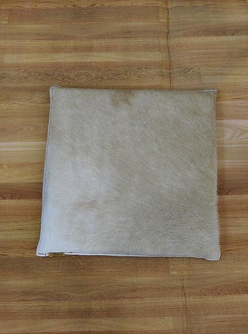 Zerimar Cojin de Piel de Vaca Premium | Medidas: 35x35 cm ...