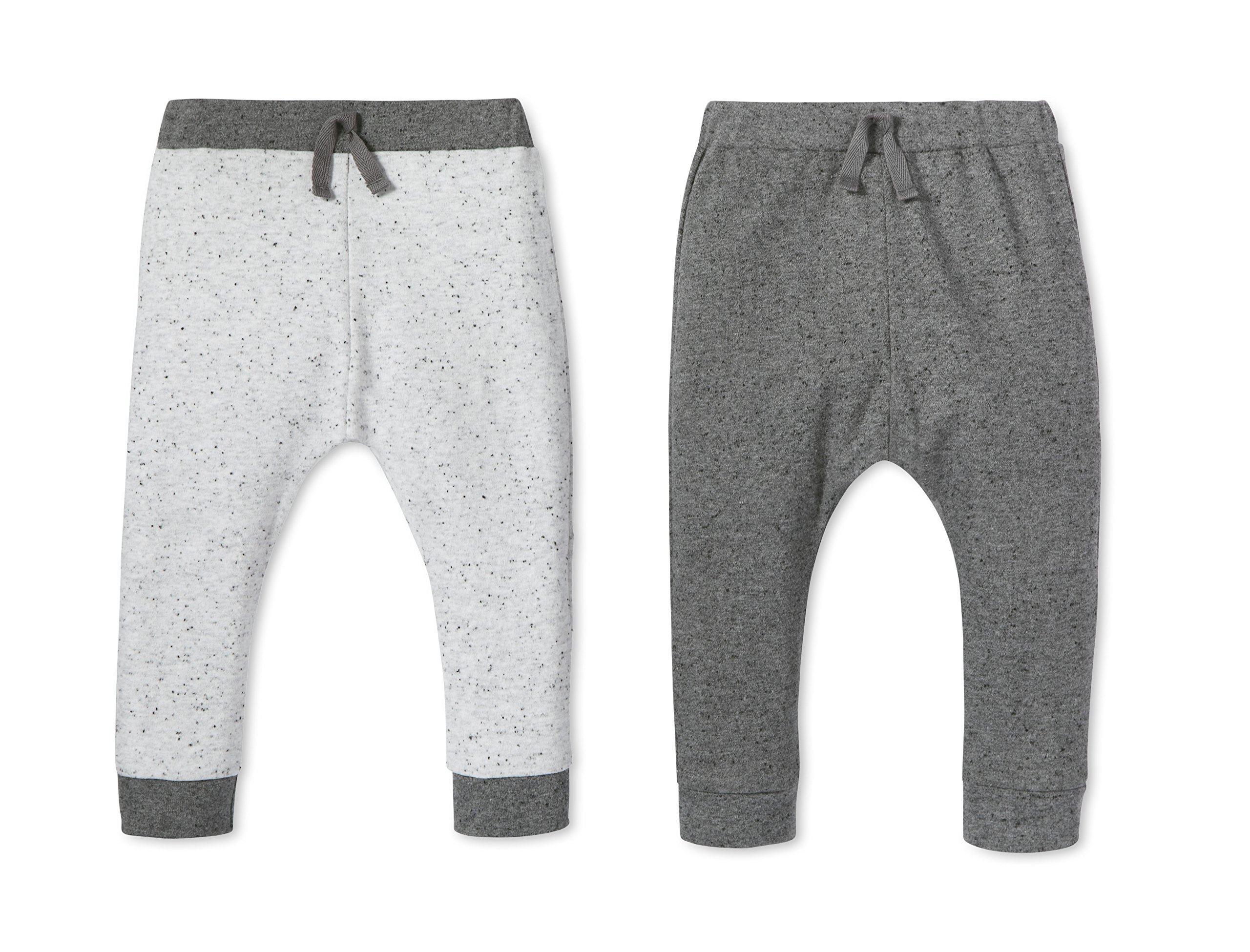 Lamaze Baby Organic 2 Pack Pants, Grey, 12M