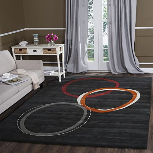 Safavieh Soho Collection SOH306A Handmade Charcoal Premium Wool Area Rug 7 6 x 9 6