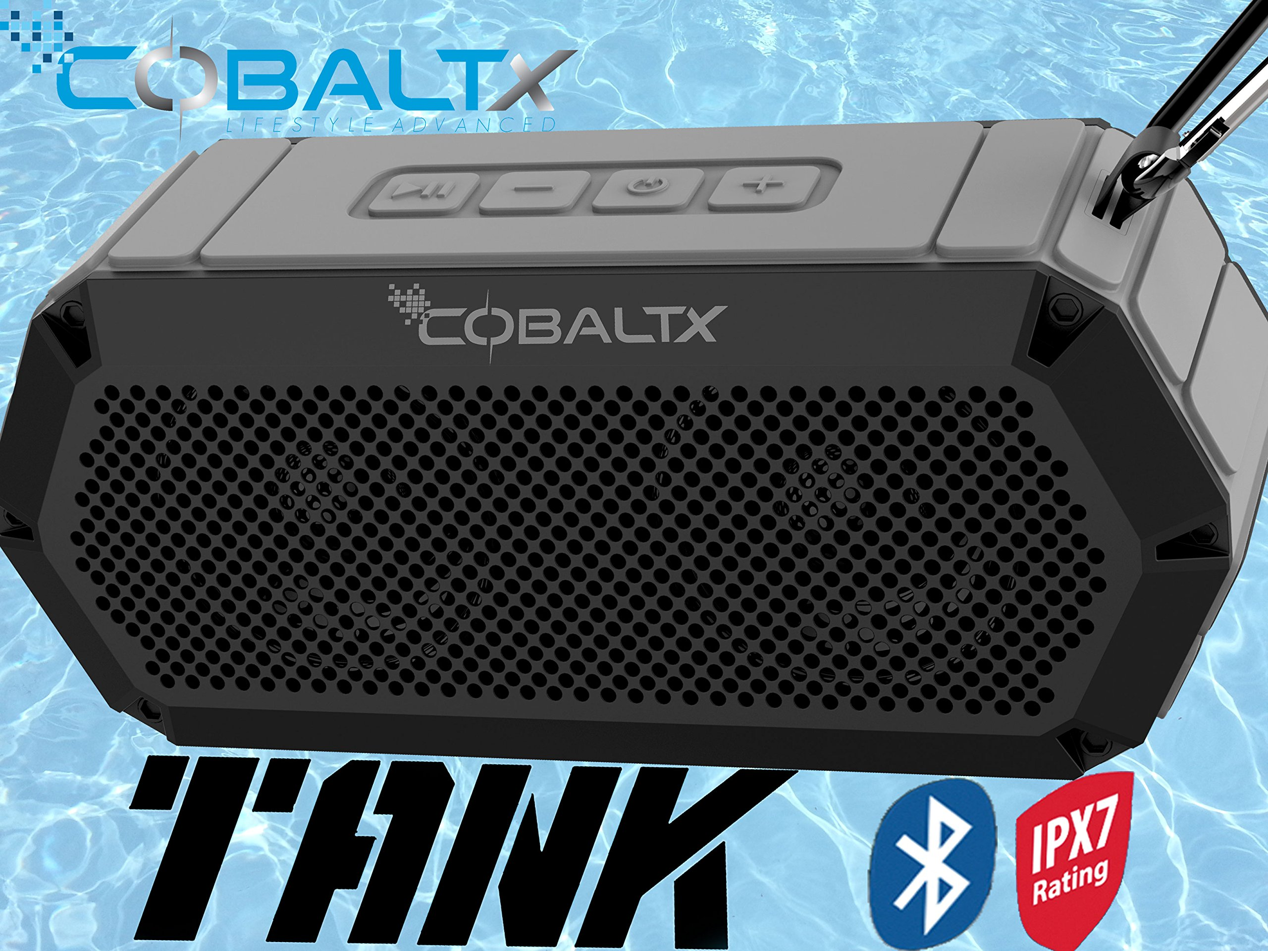 Parlante Bluetooth COBALTX Tank Rugged Wireless iPX7 Rated W