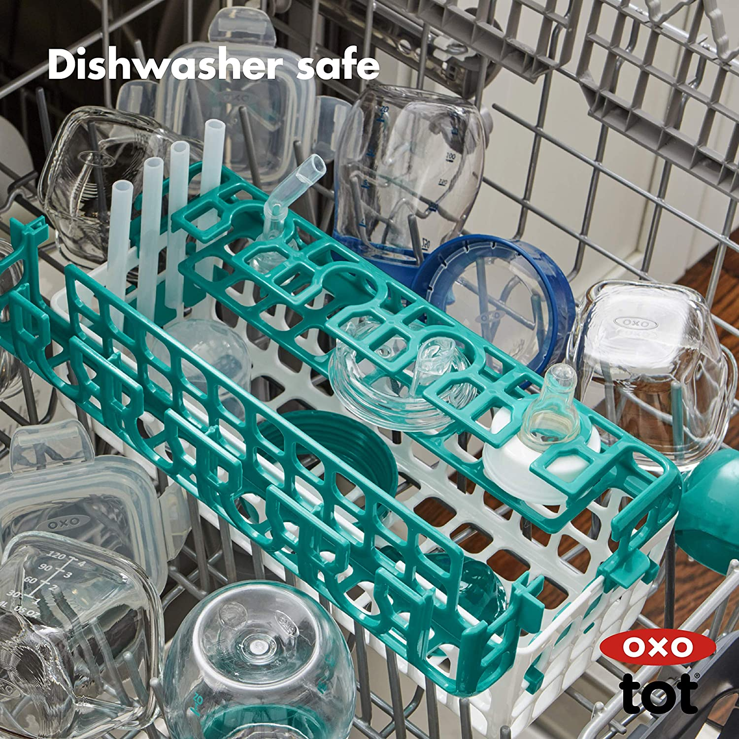 OXO Tot Dishwasher Basket for Bottle Parts & Accessories, Teal : Baby