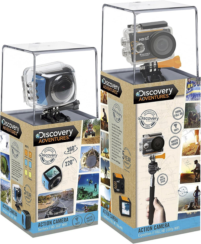 Discovery Adventures - Pack Sport Discovery 360º (visión Gran Angular + WiFi) + cámara Full HD (con WiFi Incorporado) [5 años de garantía]: Amazon.es: Electrónica