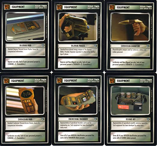 STAR TREK CCG DEEP SPACE NINE DS9 SET OF 80 COMMON CARDS