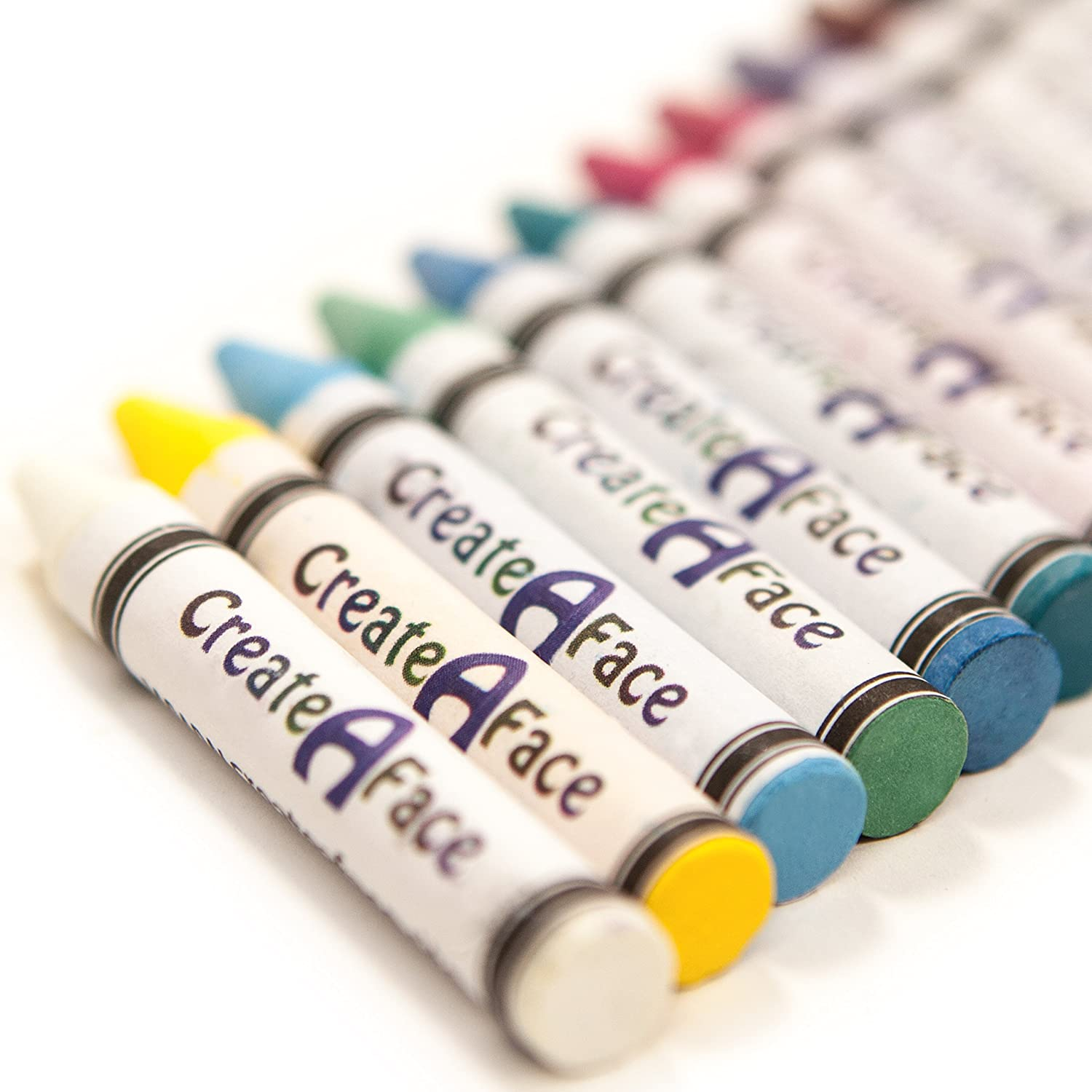 face paint body crayons 12 colors non toxic sticks