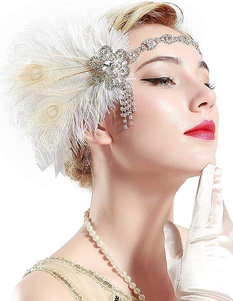 Prettyia Feathers Head Chain Fashion Headband Headpiece for Women Girls