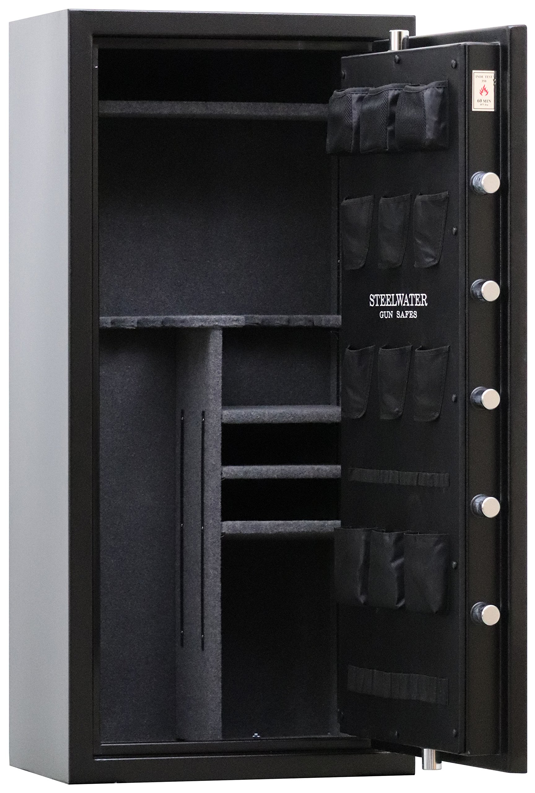 New and Improved Steelwater Heavy Duty 20 Long Gun Fire Protection for 60 Minutes AMSW592818-blk by Steelwater Gun Safes (Image #4)