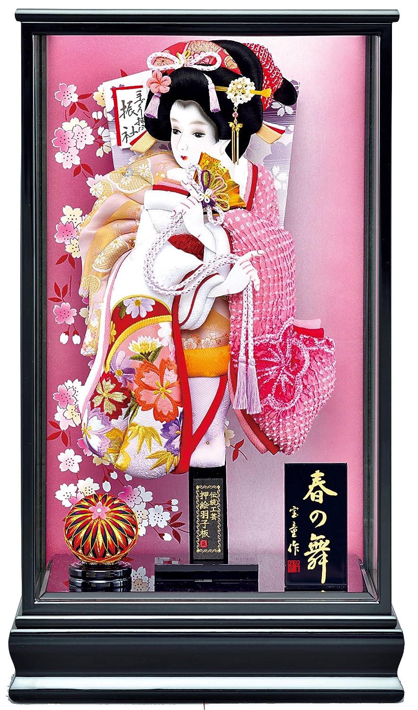 羽子板 ケース飾り 17号 羽子板:祇園 紫 ケース:新春の舞 宝童作 B0768J979P   17号