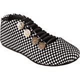 Red Choice Collection Black & White Synthetic Checkered Shoes for Women and Girls (RC065)