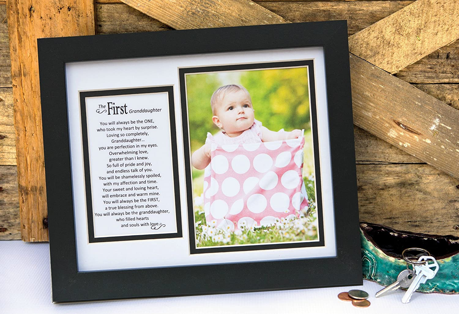 First Granddaughter The Grandparent Gift Frame Wall Decor