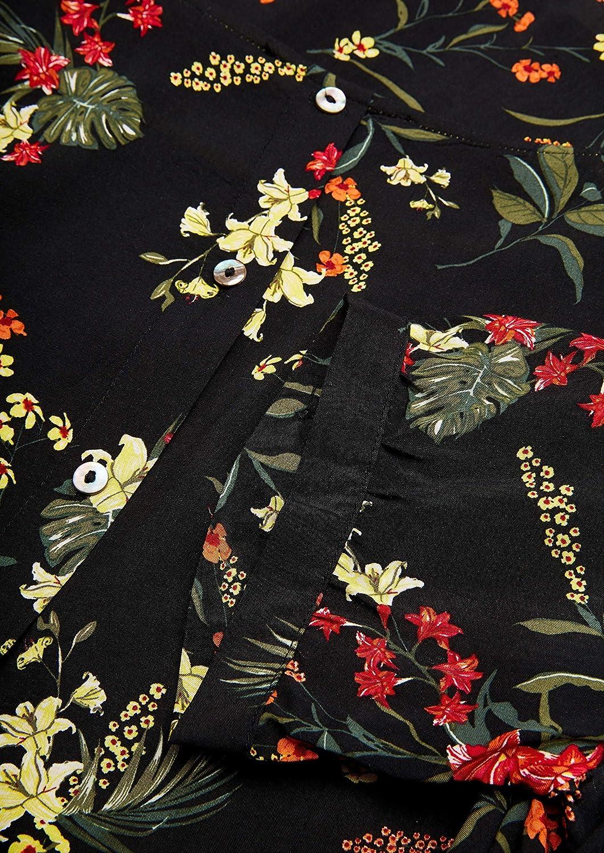 s.Oliver dam blus Svarta blommor Aop