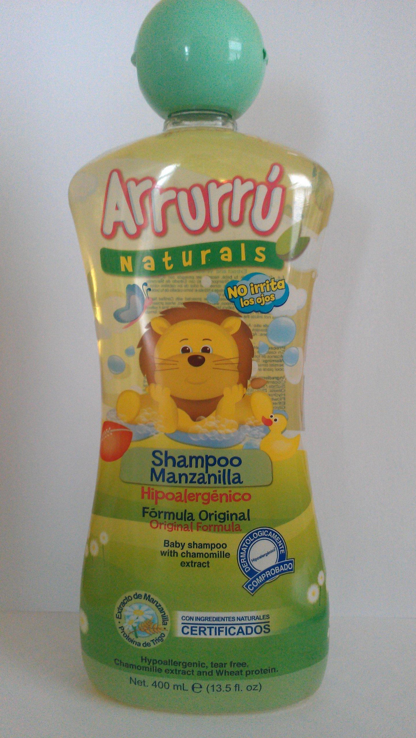 Arrurru Naturals Baby Shampoo with Chamomille Extract~Shampoo Para Bebes Con Extracto De Manzanilla Y