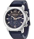 Police - 14377JS/03 - Montre Homme - Quartz - Chronographe - Bracelet Cuir bleu