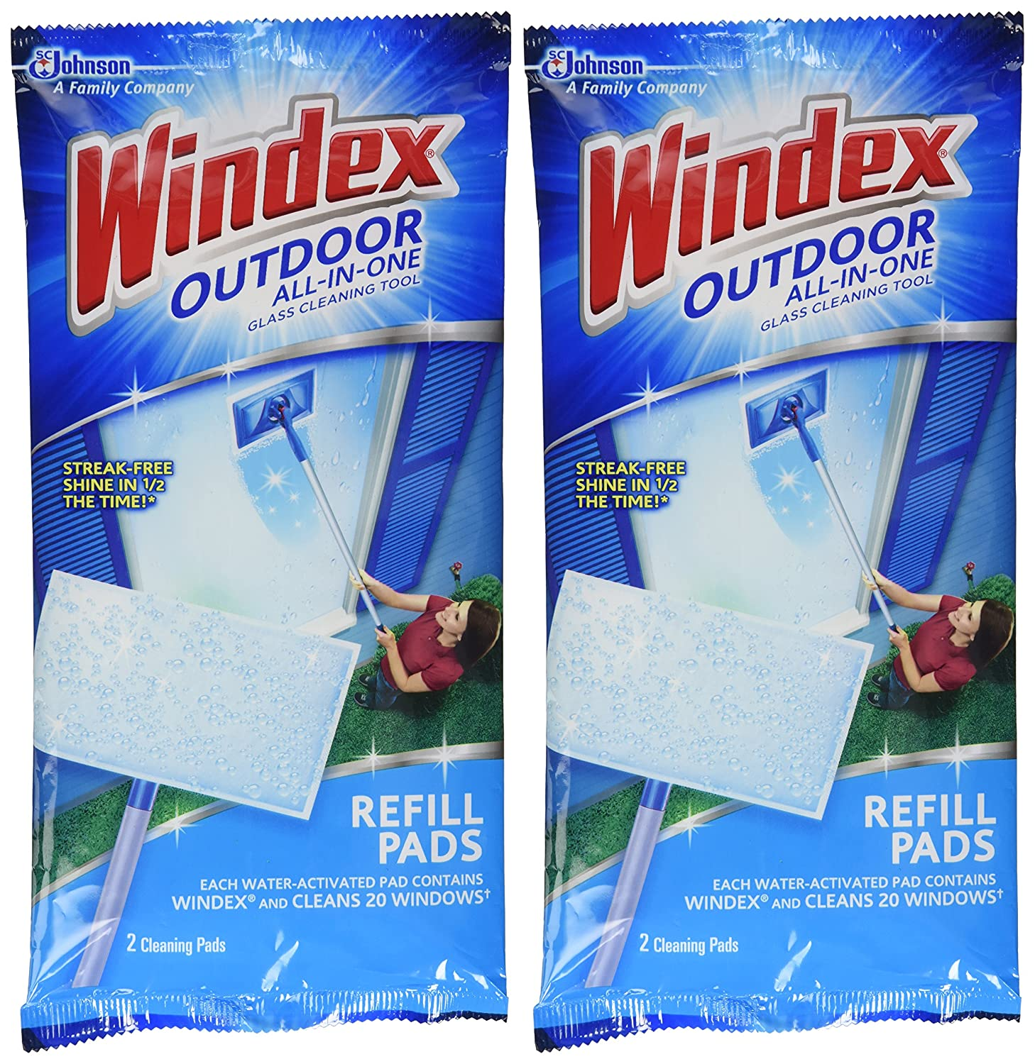 Amazon.com: Windex All-In-One Window Cleaner Pads Refill - 2 ct - 2 ...