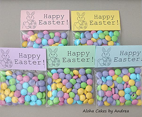 Amazon happy easter bag topper easter basket filler happy easter bag topper easter basket filler classroom gift easter bunny easter negle Choice Image