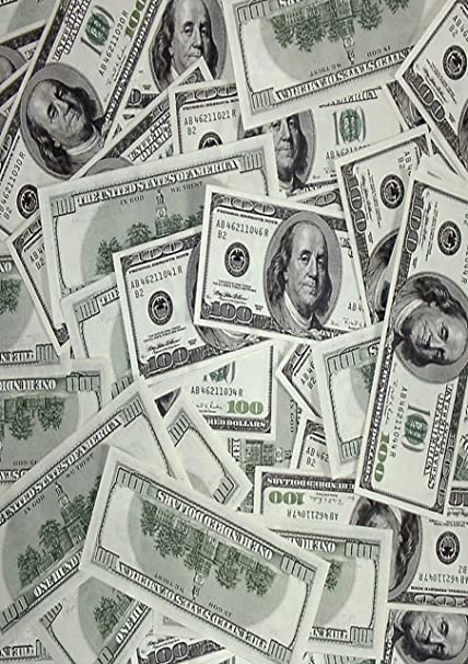 1 X A4 Printed Wallpaper Dollar Bills Money Decor Icing Sheet Edible Cake Topper Decorated Sheet Perfect For Decorating Larger Cakes