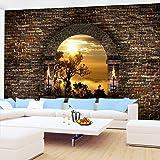 Fototapete Tropical Sunset 308 x 220 cm - Vliestapete - Wandtapete - Vlies Phototapete - Wand - Wandbilder XXL - Runa Tapete 9025010a