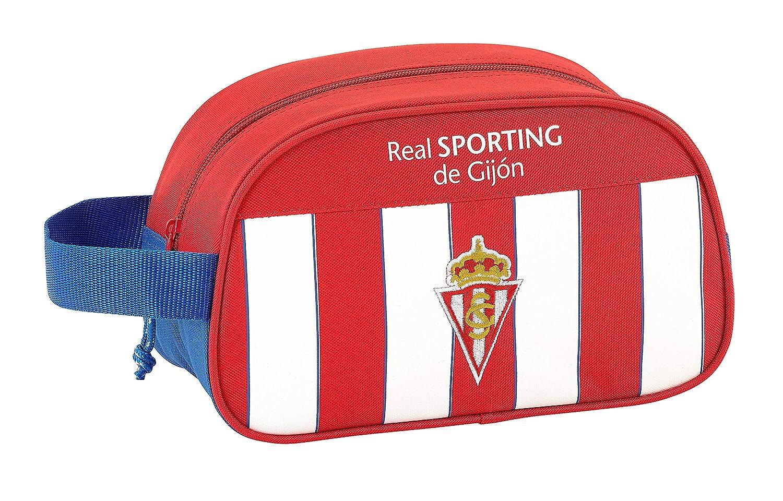 Safta Neceser Real Sporting De Gijon Oficial Mediano con Asa 260x120x150mm